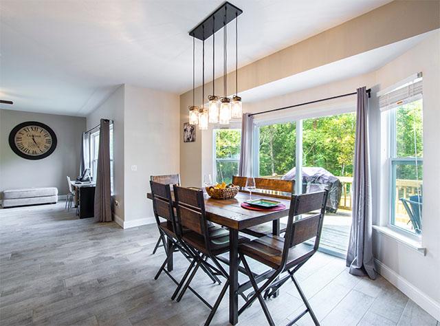 现代风格房屋的铝合金窗设计