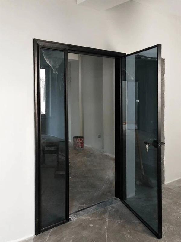 极窄铝合金对开门